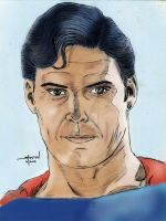 Christopher Reeve in color by StevenWilcox