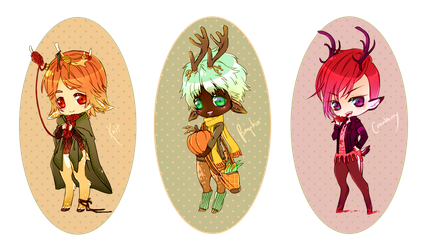 Fall Fawns Adoptables CLOSED by tarunacoco