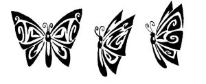 Butterflies Tribal by Izabeth