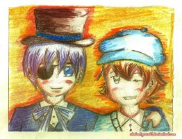 (entry) Ciel and Luke Triton- Best Friends by stateofgrace01