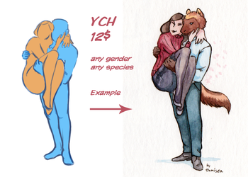 Tiny Watercolor YCH [OPEN] by Domisea