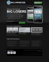 iPhone app Promotion website by vivrocks