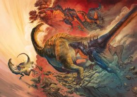 Triassic Period art 2 by redcode77
