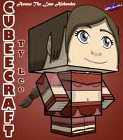 Ty Lee Avatar the Last Airbender Cubeecraft 3D by SKGaleana