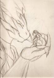 The Dragon and the Bunny by NeonNeoz