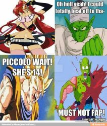 Piccolo the fap factor by DBZSonicsgreatness