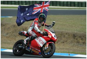 Troy Bayliss after the Win by buffaloo99