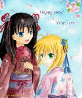 Happy New Year 2013 by luinelle