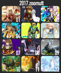 { 2017 Art Summary ! } by Zoomutt