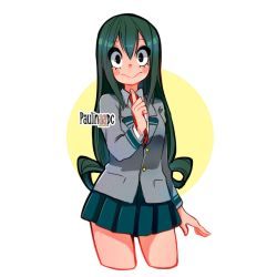 Tsuyu color sketch by Paulinaapc