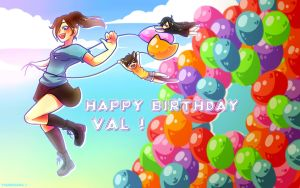 Happy Birthday Val !~ by Tsunesamaa