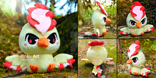Baby Moltres Pokedoll - Version 2! by PinkuArt