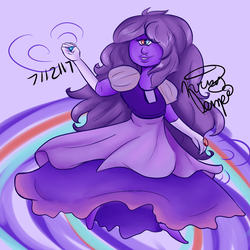 Purple Sapphire : Fan Fusion of the Sapphires by Sniffy678578