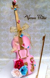 3D Violin Cake by Verusca