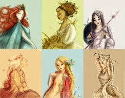 Greek goddesses by Arbetta