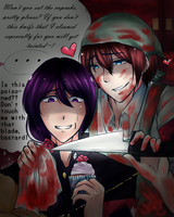 Yandere Simulator : Amao X Kizano by lolilovesdrawing