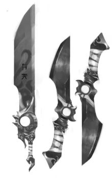 Oriental Sword and dagger - Concept by Carlos-Way