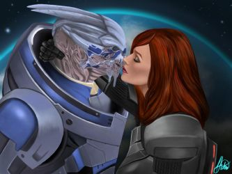 You'll Never Be Alone ~ Garrus and Femshep Fanart by Zytah
