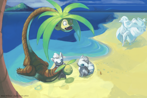 Alolan Playdate w/ Ninetales and Exeggutor
