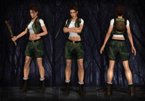Lara Croft Young TR4-5 by Larreks