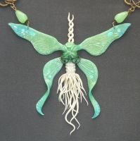 Moonlight Butterfly - Commissioned Necklace by Ganjamira