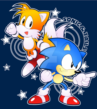 Sonic and Tails~ 25th Anniversary by MugiMikey