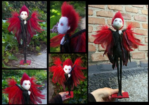 OOAK doll: Ertael Red Wings, the fallen angel. by Lauramei