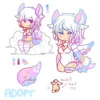 Kenomimi Pastel Cupid Adoptable Auction - CLOSED by OperaHouseGhost