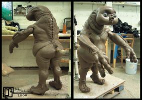 Baby Slitheen Sculpture by CB-FX