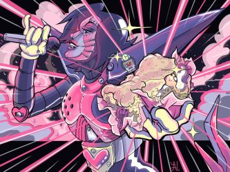 Mettaton Attacks! by HonoluluJoe