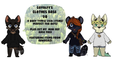 Clothes Base 2016 by Coywolfy