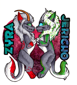 Badges - Zyra and Jericho by alaitallon