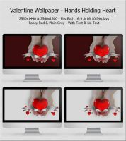 Valentine Wallpaper - Hands Holding Heart by ThePixelMe