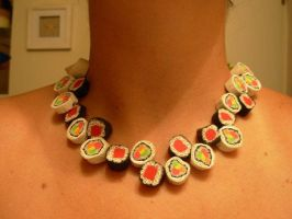sushi2 necklace by schnellzz