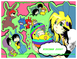 Kiriban 2000 and Happy Easter by amaguri