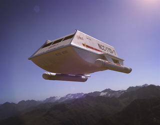 Shuttlecraft Galileo Flyby by PainthatImausedto