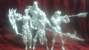The Black Order - Aluminum Foil Sculpture by TheFoilGuy
