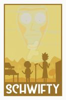 Rick and Morty Get Schwifty Poster by MurphyMurphy1992