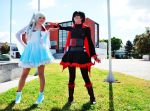 Ruby and Weiss - Combat Skirt by Denis-NanaOosaki
