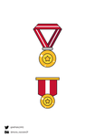 Free Medals Vector by MunaNazzal