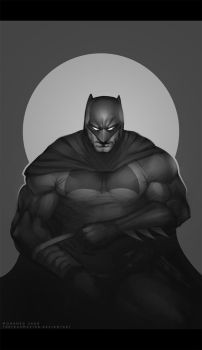 daily doodle : batman by TheFearMaster