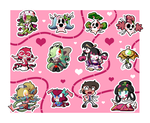 Yokai Love You! Chibi Set by BLARGEN69
