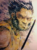 The Wolverine - Logan Watercolored by dreamflux1