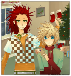 + an akuroku xmas + by Starlight-Usagi