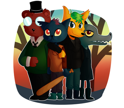 Night In the woods - W/ Jack! by 30FramesXSecond