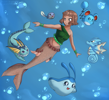 Mermaids and Water-Types by Tears-of-Xion