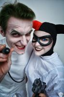 Harley Quinn and Joker (Mad Love ver.) 2 by ThePuddins