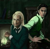 Severus and Lucius by J-Grey