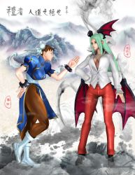 chunli and Morrigan by shenlai