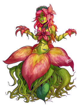Man-Eating Plant Girl by nivlacart
